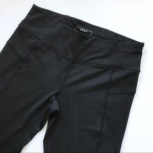 Dkny Pants - DKNY Black Workout Leggings - Small